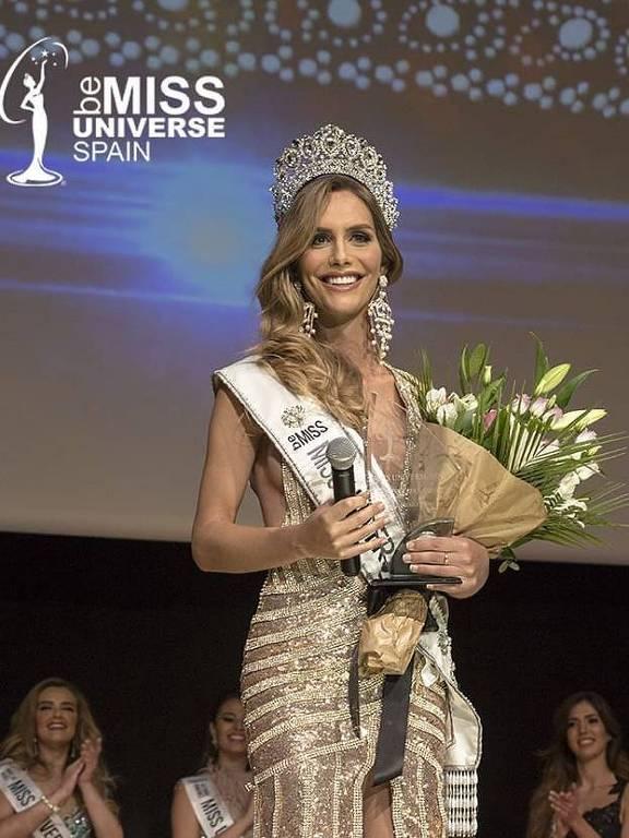 A miss Espanha transgênero Ángela Ponce