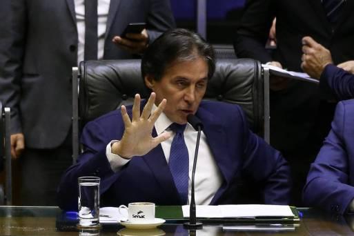 O presidente do Senado, Eunício Oliveira (MDB-CE), que tenta a reeleição