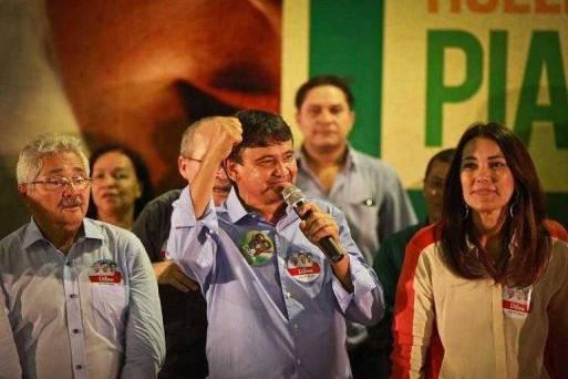 Margarete Coelho (PP), ao lado de Wellington Dias (PT), governador do Piauí