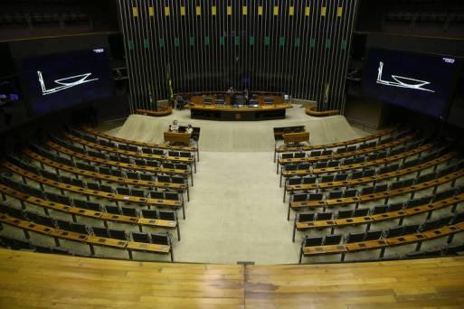 Plenário da Câmara durante período de recesso. Congresso só volta às suas atividades em 1º de fevereiro