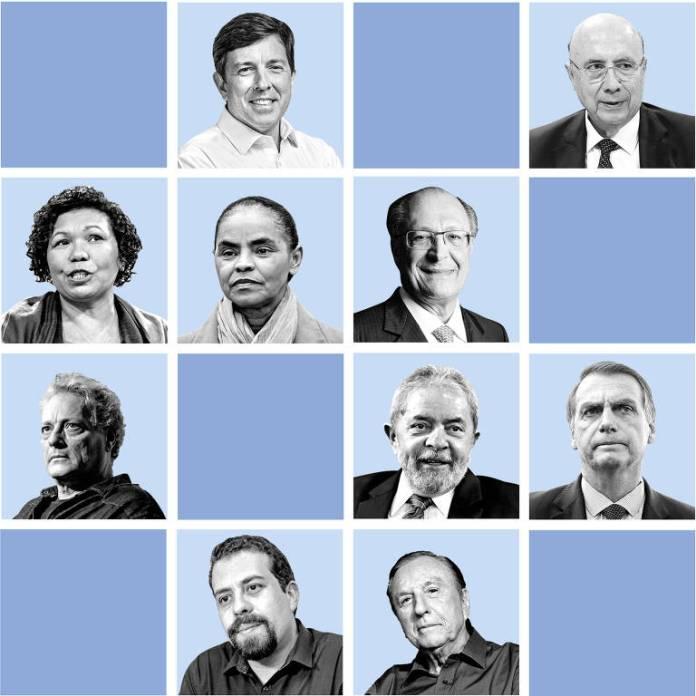Montagem candidatos a presidência