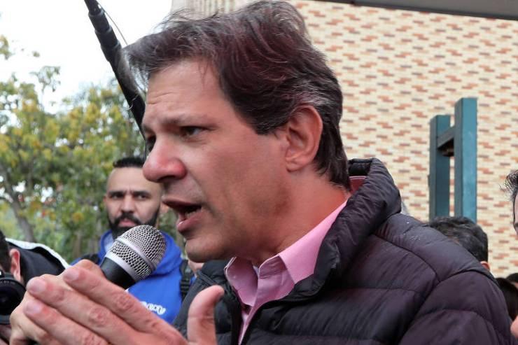 O candidato a vice na chapa do PT ao Planalto, Fernando Haddad
