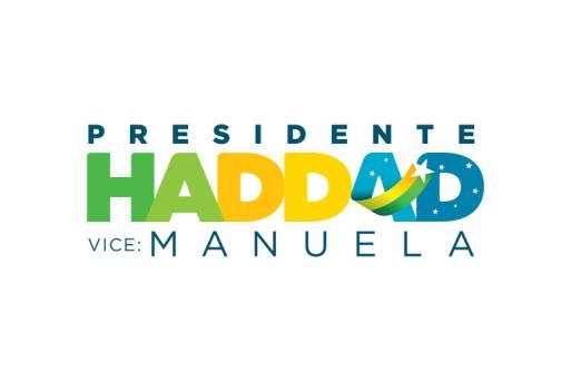 Novo material de campanha do candidato Fernando Haddad tira a cor vermelha