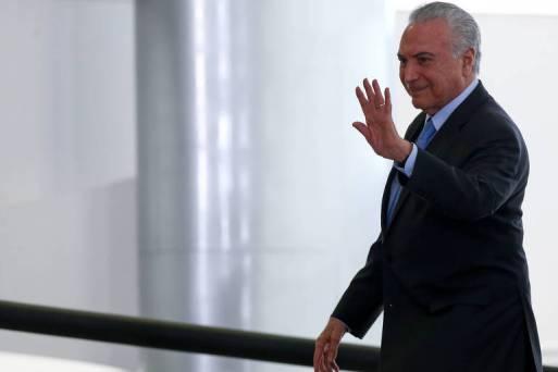 Michel Temer durante solenidade de posse do novo presidente da Embrapa, no Palácio do Planalto, em 10.out