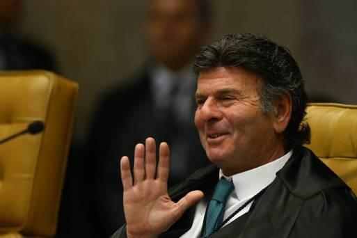 O ministro Luiz Fux. Sessão plenária do STF, sob a presidência do ministro Dias Toffoli