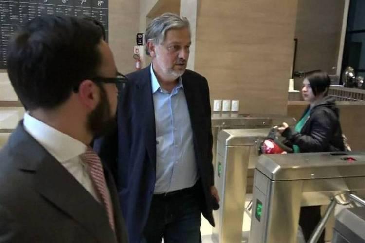 O ex-ministro Antonio Palocci ao chegar à Justiça Federal em Curitiba, em 2018