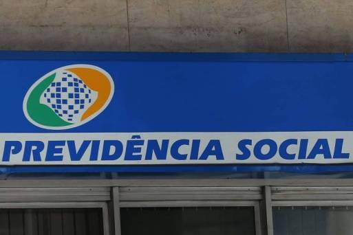 Logo da Previdência Social em sede no centro de São Paulo