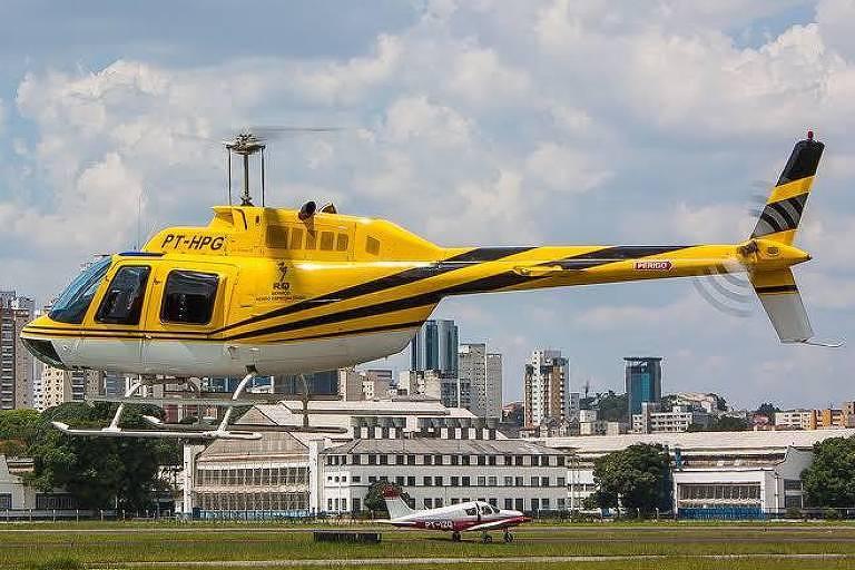 Aeronave que caiu por volta de meio-dia nesta segunda (11) em São Paulo