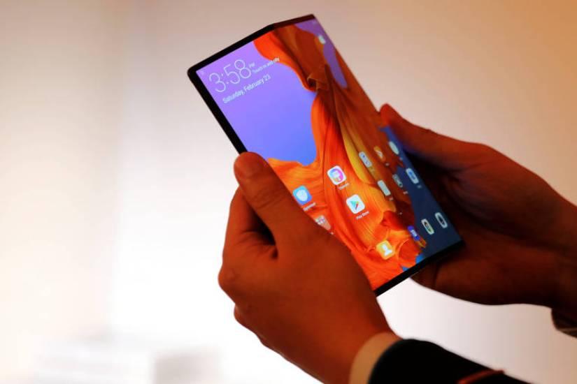 Smartphone dobrável Mate X da Huawei