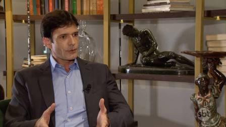Marcelo Álvaro Antônio concede entrevista ao SBT, na qual nega possibilidade de se afastar do cargo de ministro do Turismo para se defender das acusações