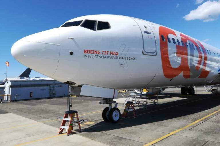 O primeiro Boeing 737 MAX 8 recebido pela Gol, em 2018