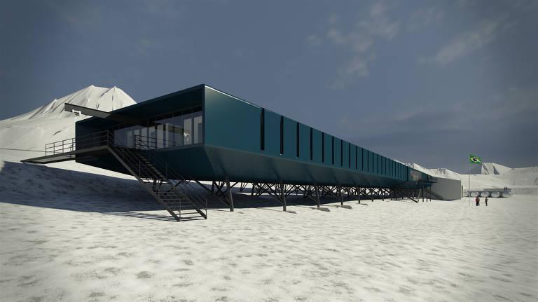 Resultado de imagem para estação brasileira na Antártica