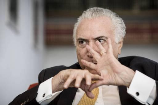 O ex-presidente Michel Temer (MDB) durante entrevista exclusiva à Folha