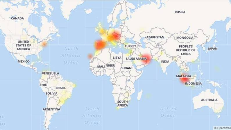 Mapa do mundo mostra concentração de reclamações na Europa, EUA, algumas regiões da Ásia e no Brasil