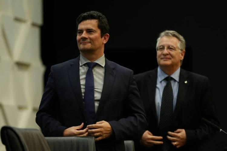 O ministro Sergio Moro e o presidente do Coaf, Roberto Leonel