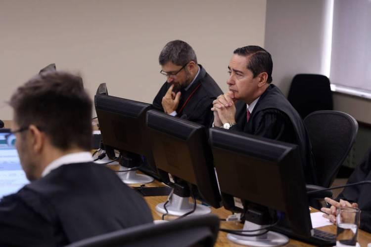 O juiz Thompson Flores na sessão sobre o caso de sítio de Atibaia (SP), na semana passada