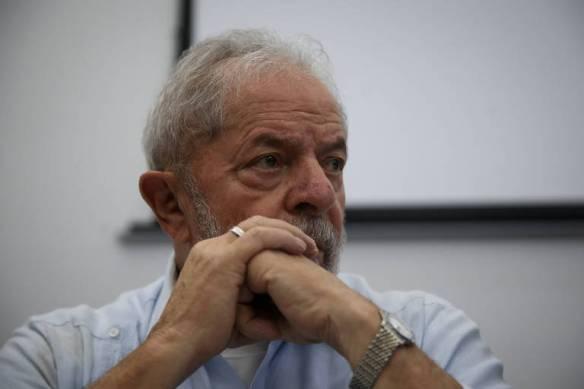 O ex-presidente Lula durante reunião do diretório nacional do PT, em São Paulo