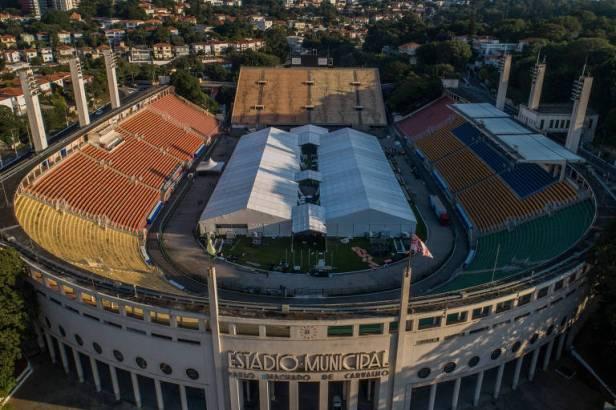 Estádio do Pacaembu virou hospital de campanha no combate à pandemia da Covid-19