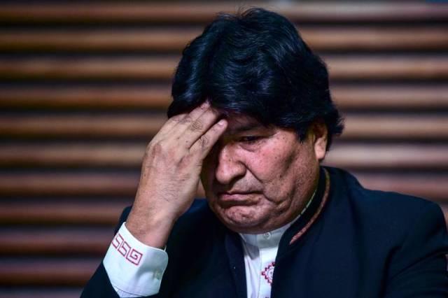 O ex-presidente da Bolívia Evo Morales durante entrevista coletiva em Buenos Aires, onde se exilou após renunciar