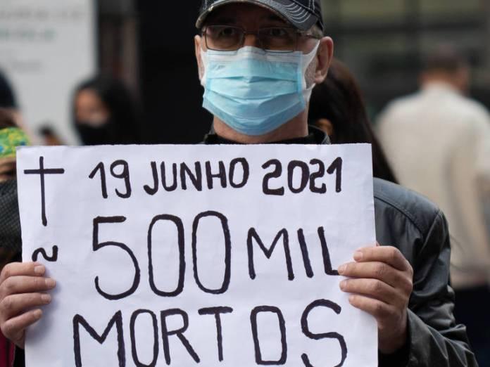 O protesto contra o governo Bolsonaro em cartazes