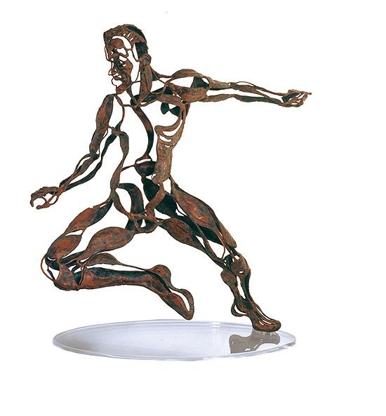 """Obra """"Garrinha Guerreiro"""" (foto) integra a exposição """"Deuses do Futebol - A Ginga Canonizada"""""""