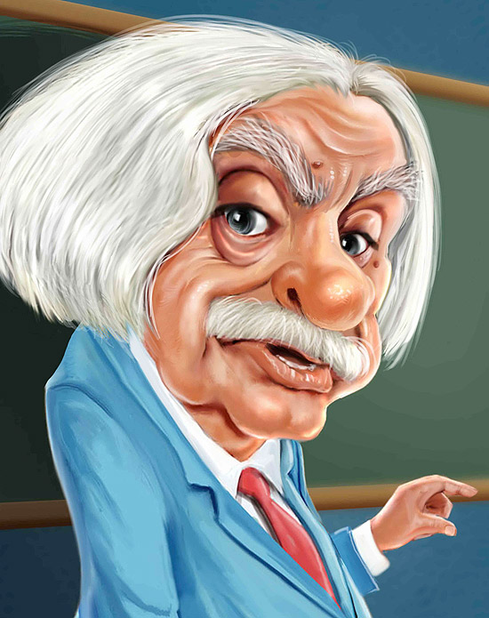 Caricatura do Professor Raimundo feita por William