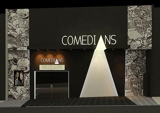 """Fachada do Comedians, na rua Augusta, que terá 15 sessões de """"stand-up"""" até domingo"""