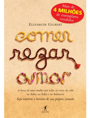 Livro conta a viagem de uma mulher na itália, na Índia e na Indonésia