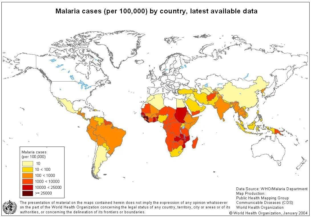 Global Map Malaria