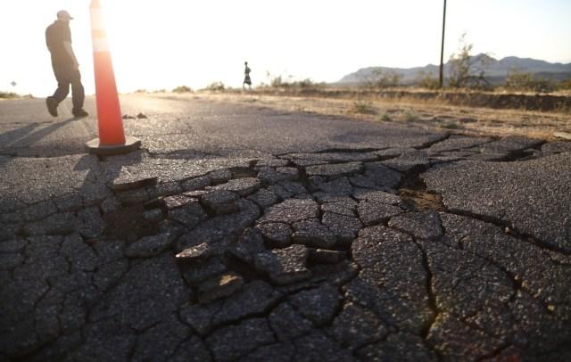 El terremoto también se sintió en Las Vegas, en el vecino estado de Nevada, dijeron testigos.