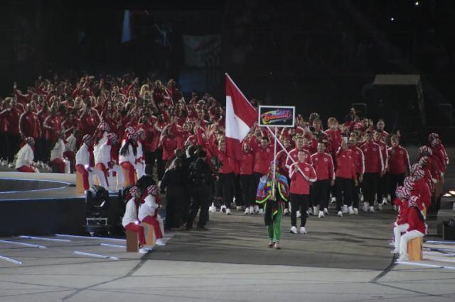 La delegación peruana durante el desfile en los Juegos Panamericanos Lima 2019