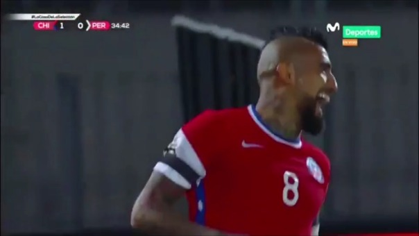 Chile 2-0 Perú: Arturo Vidal anotó dos goles en el Nacional
