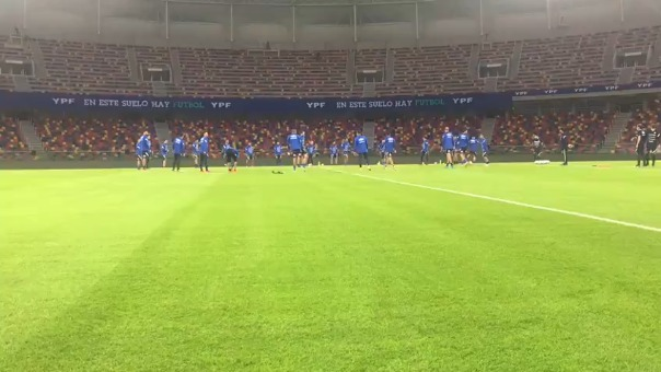 La selección de Chile reconoció anoche el estadio Único de Santiago del Estero