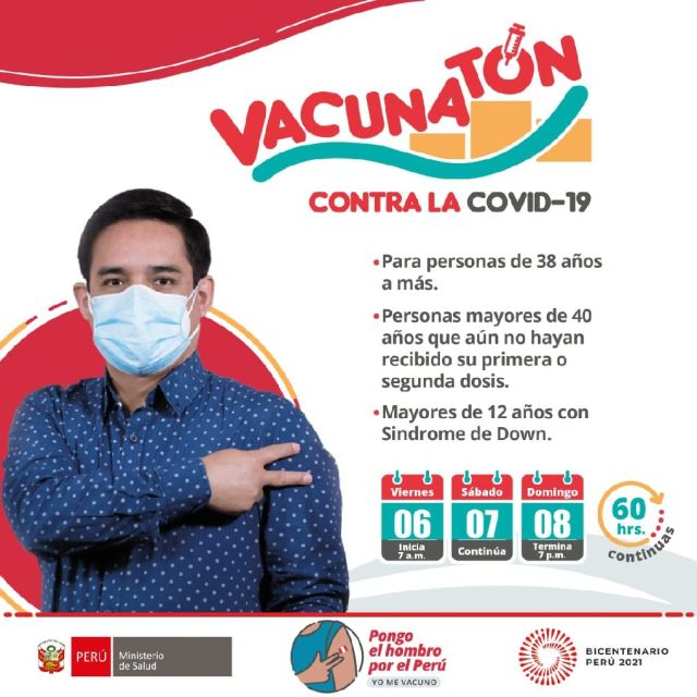 Vacunatón agosto COVID-19.