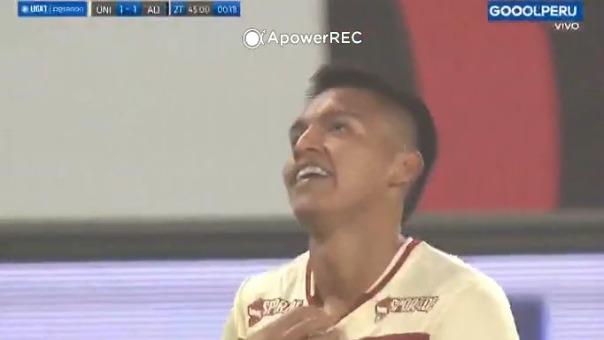 Nelson Cabanillas convirtió el 1-1 de Universitario frente a Alianza Lima
