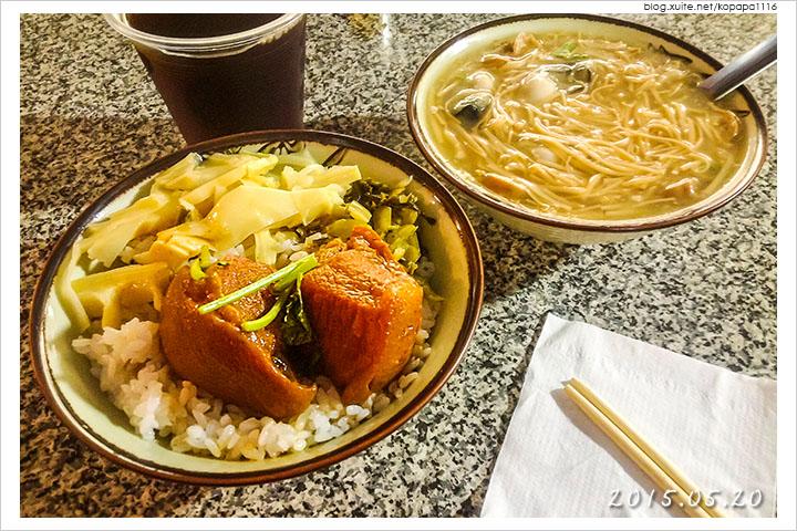 [花蓮重慶市場] 鼎吉大腸鮮蚵麵線‧爌肉飯