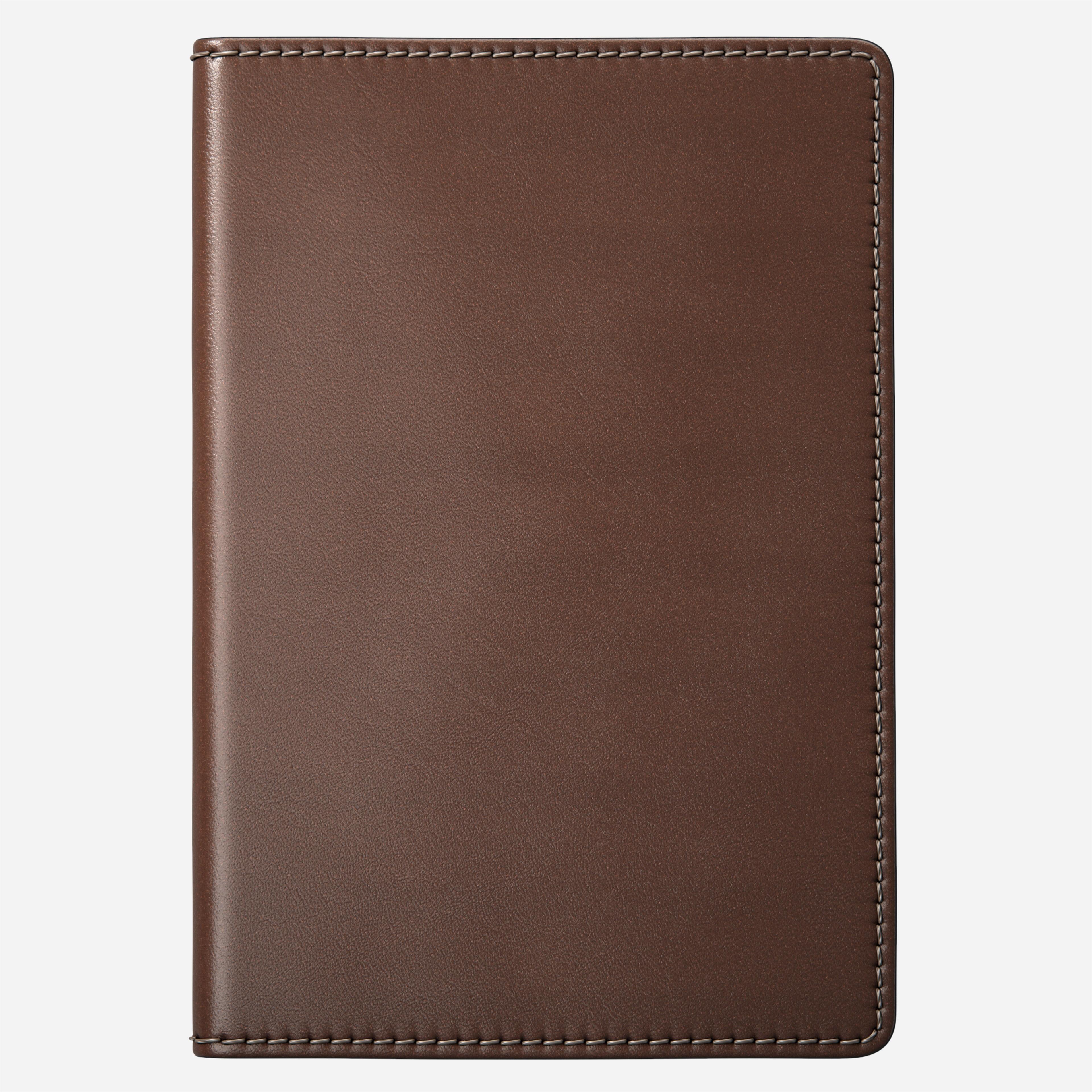 passport wallet traditional rustic brown