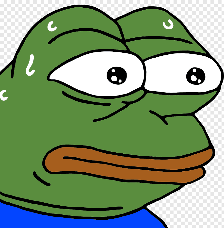 Pepe The Frog Sticker Red Envelope Facial Expression Sad Frogs