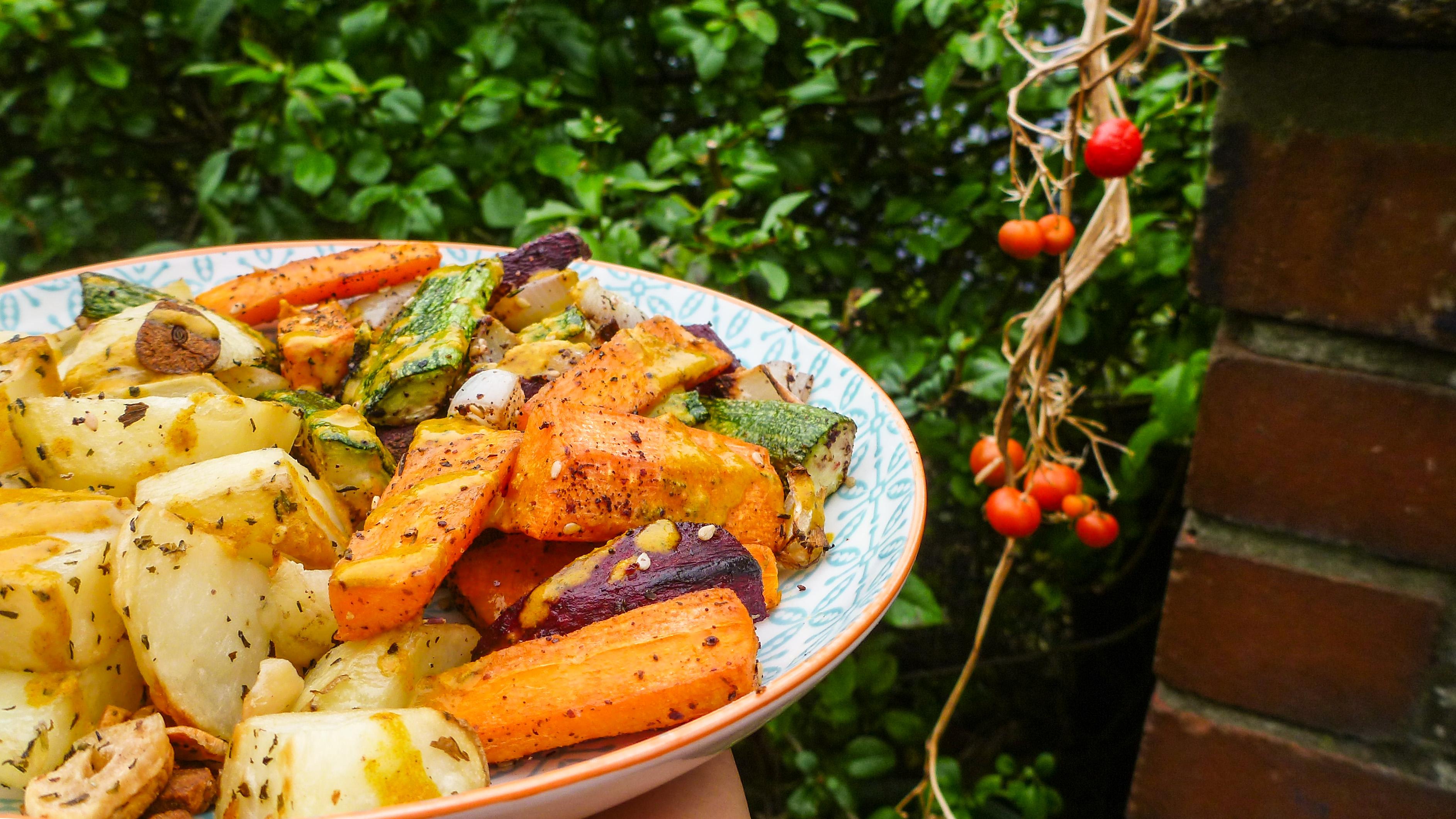 Grounding Root Veg with Mint, Orange and Za'atar