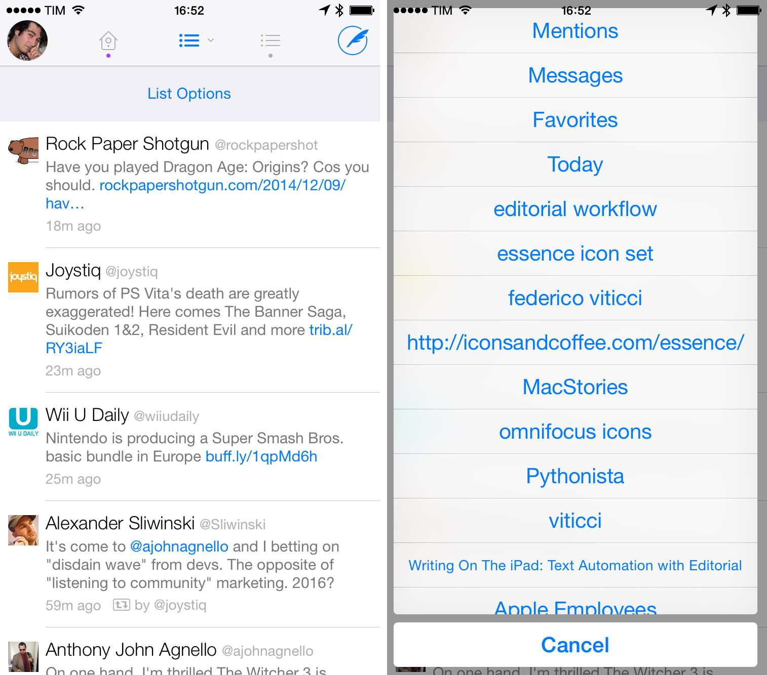 Twitter Clients In An Exploration Of Tweetbot Twitterrific And Twitter For Ios Macstories