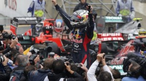 Vettel—Interlagos 2012 celebration