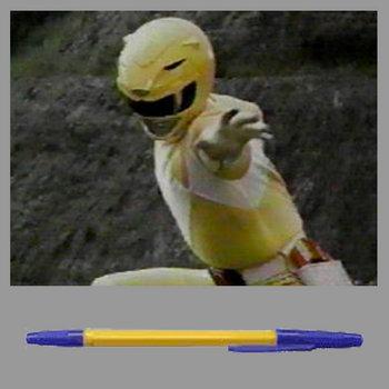 жёлтый мегамэн - у меня есть шариковая ручка [DOPEFISH034]