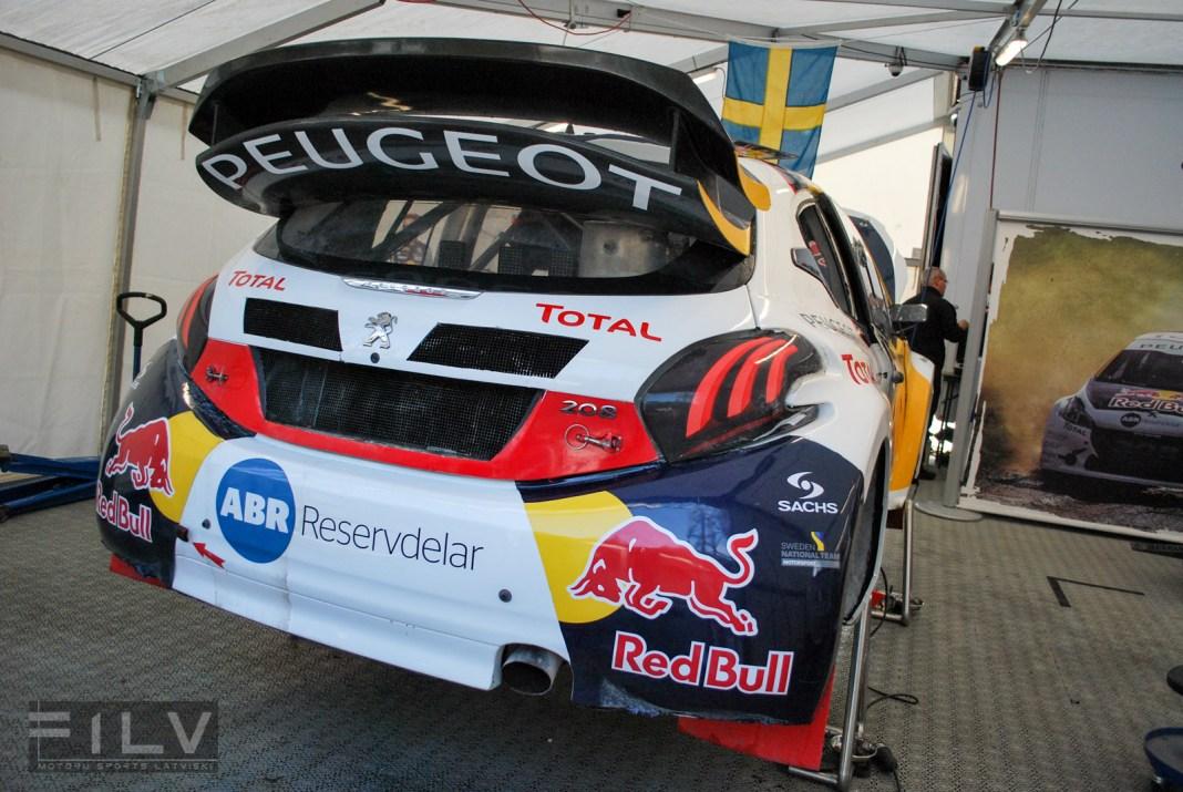 Peugeot rallijkrosa auto, Foto: Edgars Beļakovs