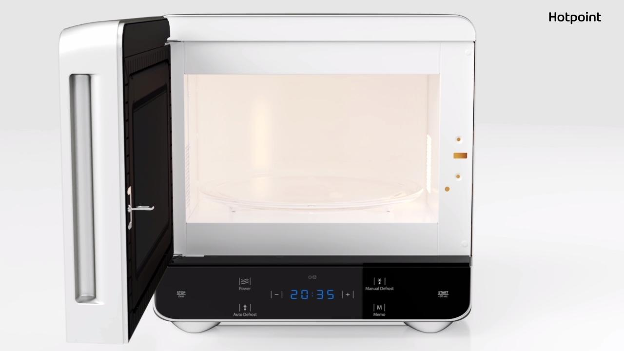 hotpoint curve mwh1331b 13 litre microwave black