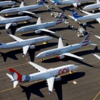 Grounded Boeing 737 Max aircraft at Boeing Field in Seattle in July 2019   REUTERS