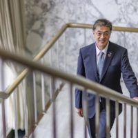 Yuki Kusumi, Panasonic Corp.'s new President and Chief Executive Officer, took the helm of the 103-year-old company on Thursday.   BLOOMBERG