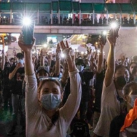 Thai pro-democracy protesters gather in Bangkok on March 24.    GETTY IMAGES / VIA BLOOMBERG