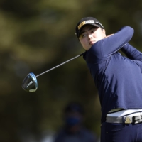 Yuka Saso hits a shot from the 10th tee during the third round of the U.S. Women's Open in San Francisco on June 5. | USA TODAY / VIA REUTERS