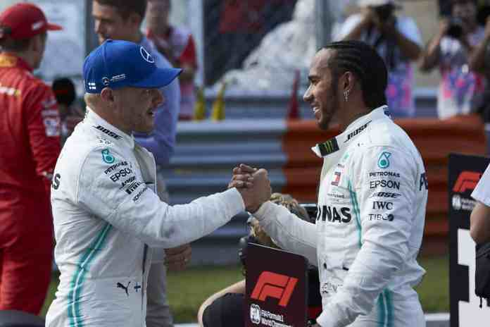 2019 Italian Grand Prix, Saturday - Valtteri Bottas & Lewis Hamilton (Image courtesy Mercedes-AMG Petronas)