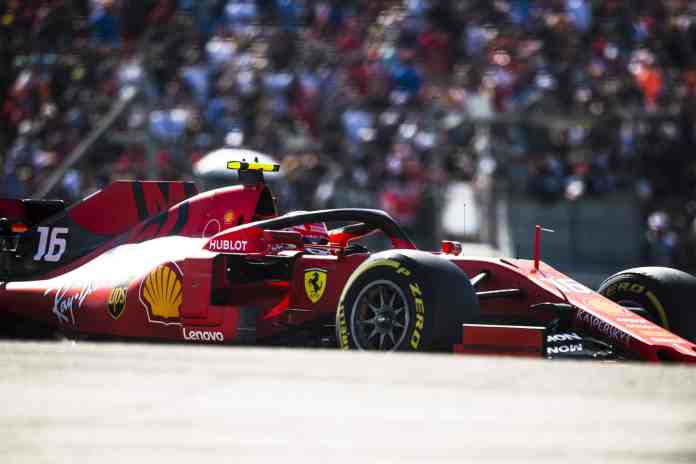 2019 United States Grand Prix, Sunday - Charles Leclerc (image courtesy Ferrari Press Officer)